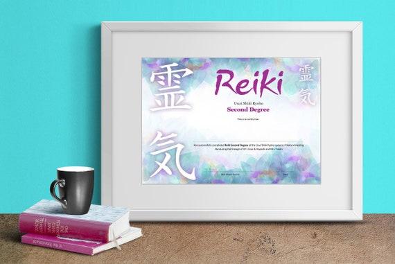 Reiki Second Degree Certificate