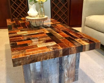 Items Similar To 36 X 36 Square Reclaimed Wood Coffee Table Barn