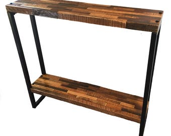 Farmhouse Console Table, Rustic Table, Reclaimed Wood, Metal Legs, Hall  Table, Entry Table, Side Table, Barnwood