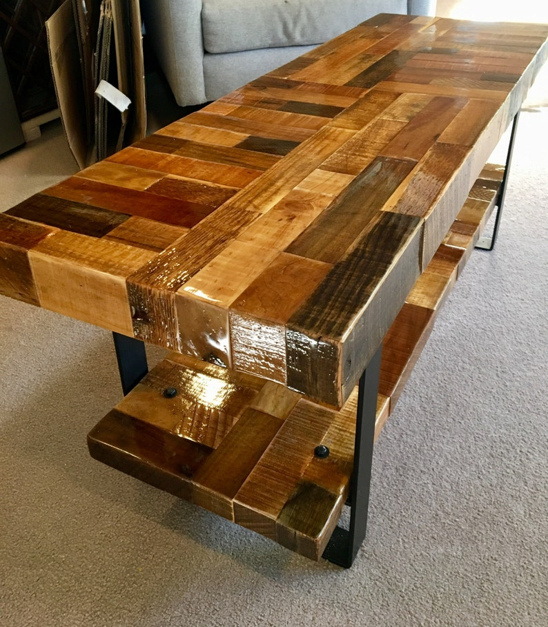 Farmhouse Bench Reclaimed Wood Rustic Furniture Entry Etsy