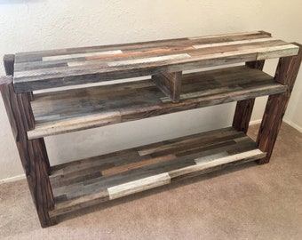 Rustic TV stand, TV console, entertainment stand, media console, reclaimed wood