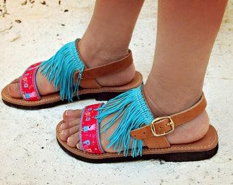 Ragazze di PEPPA PIG greco-abbigliamento in pelle sandali-Crochet ragazze sandali rosa scarpe-sandali-tema