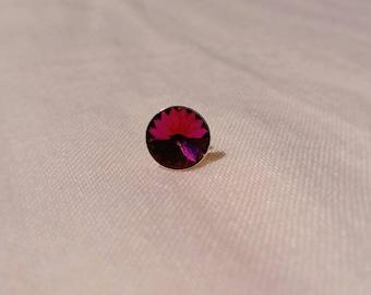 Fuchsia Swarovski stud earrings
