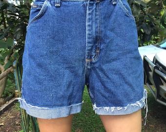 Blue Wrangler Shorts