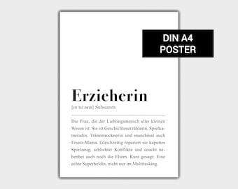 Motivation Typografie Leben Poster Spruch Kunstdruck LIFE Typo