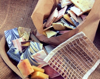 1kg Handmade Soap 'Odds & Suds'-Handmade Soap Offcuts-Palm Oil Free-Plastic Free-UK Soap-Cold Process Soap