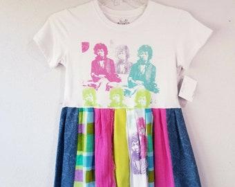 Upcycled Pastel Jimmy Hendricks Tunic Dress Youth Large