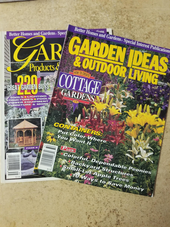 Vintage 90s Better Homes Gardens Magazines Garden Ideas Etsy