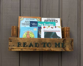 Pair Of Nursery Bookshelves With Read To Me