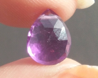 Amethyst Faceted cabochon 2.65 Ct. (10x8x6 mm) Pear Shape Natural Gemstone PA-26