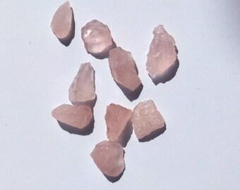 Natural Rose Quartz Rough Chuncks 9 Pcs. approx 84.45 Ct. LT-7