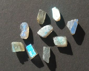 Natural Labradorite Rough Gemstones 9 Pcs. approx 35.05 Ct. LT-9