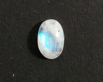 Rainbow Moonstone Cabochon 3.75 Ct (12x8x5 mm) Oval Shape Natural Gemstone MR-1