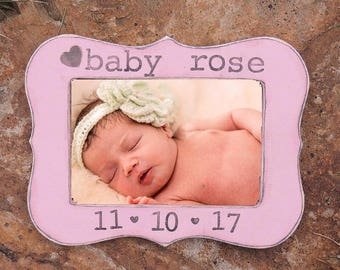 New Parents Gift First Mother's Day personalized custom picture frame for New Mom and dad Newborn baby Girl picture frame Nursery decoration