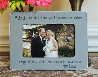 Wedding thank you Gift for dad father of the bride gift personalized picture Frame rustic wedding gift papa dad daddy frame Photo frame