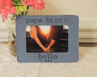 Papa bird Mom to be gift for mom mommy Mama bird picture frame Mother's day gift Pregnancy Expecting mom gift Personalized photo frame