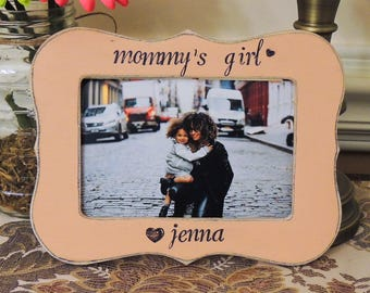 Mommy's girl frame mothers day gift mom mama mommy dad Personalized Custom photo picture frame daughter mother bride wedding gift