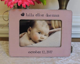 Personalized New Parents Gift First Mother's Day custom picture frame for New Mom and dad Newborn baby Girl picture frame Nursery decoration