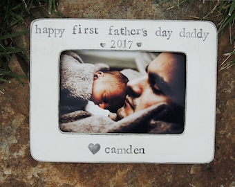 First father's day frame, Personalized father's day gift, Custom Happy fathers day Picture frame gift for dad grandpa gifts, gifts for papa