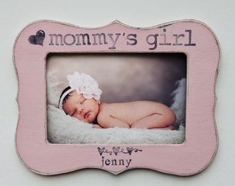 Mommy's girl picture frame mothers day gift mom mama mommy dad Personalized Custom photo picture frame daughter mother bride wedding gift