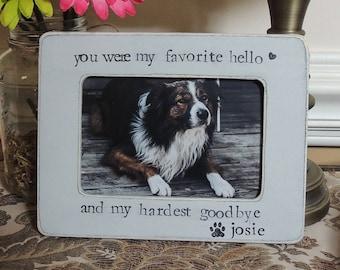 Pet Sympathy Gift Pet loss gift Personalized Dog Frame Cat Pet Sign Dog Photo Frame cat Dog Memorial Frame Pet Lover Gift Loss of Dog Cat