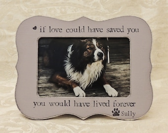 Pet loss gift idea Dog Memory picture frame pet dog memorial gift, pet sympathy gift for pet lover, fur baby