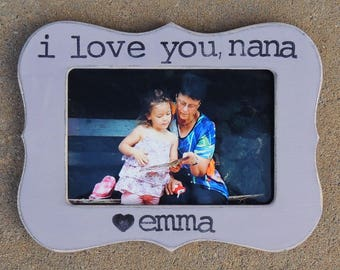 Personalized grandma picture frame Mothers day gift for Grandmother Custom gift son daughter grandkids grandchild frame I love you nana