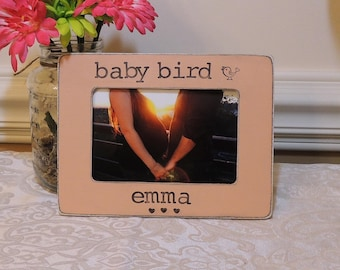 Baby bird picture frame Mom to be gift for mom mommy mama fathers Mother's day gift Pregnancy Expecting mom gift Personalized photo frame