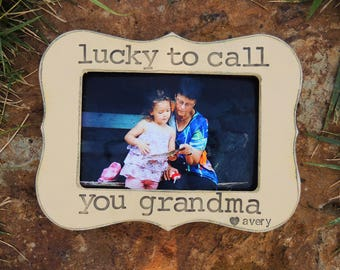 Grandma gift picture frame Mothers day gift Grandmother Personalized Custom gift from son daughter grandkids grandchild photo frame for mom