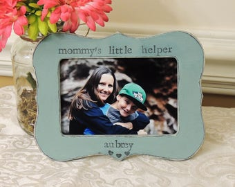 Mommy's little helper frame mothers day gift mom mama mommy Personalized Custom photo picture frame son daughter mother bride wedding gift