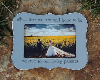 Personalized Wedding Parent thank you Gift picture Frame Parent wedding gift picture frame Mother Father groom bride gift Photo frame