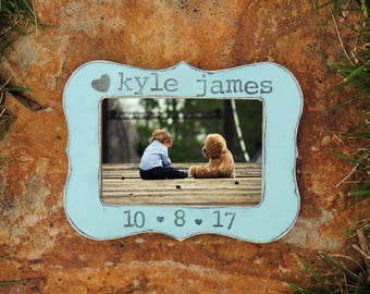 New parents gift New Mom Gift First Mother's Day personalized picture frame Newborn baby boy picture frame Nursery decoration