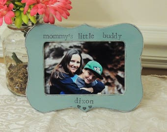Mommy's little buddy frame mothers day gift mom mama mommy Personalized Custom photo picture frame son daughter mother bride wedding gift