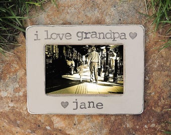 grandpa picture frame Fathers day gift for Grandfather Personalized Custom gift from son dauther grandkids grandchild frame for dad