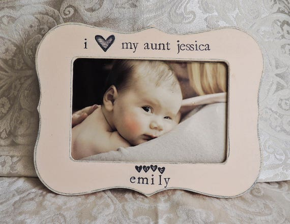 I Love My Aunt Picture Frame Gift For Aunt From Niece Nephew Etsy