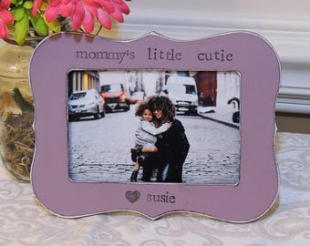 Mommy's little cutie frame mothers day gift mom mama mommy daddy Personalized Custom photo picture frame daughter mother bride wedding gift