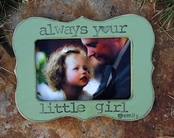 Always your little Girl picture frame Personalized Father's day gift dad daddy papa Custom Wedding gift photo frame from son daughter