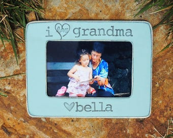 I love Grandma gift picture frame Mothers day gift Grandmother Personalized Custom gift from son daughter grandkids grandchild photo frame