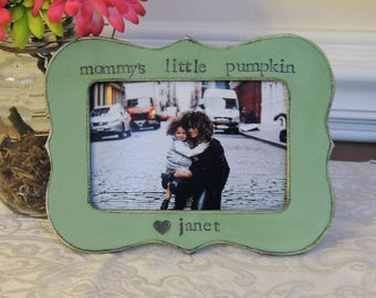Mommy's little pumpkin frame mothers day gift mom mama mommy dad Personalized Custom photo picture frame daughter mother bride wedding gift