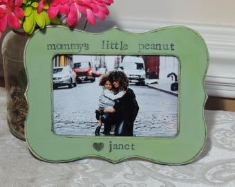 Mommy's little peanut frame mothers day gift mom mama mommy dad Personalized Custom photo picture frame daughter mother bride wedding gift