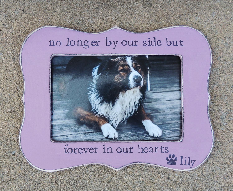 Cat Dog Memorial Frame Pet loss gift Personalized Dog Frame | Etsy