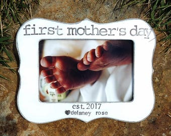 First Mother's day picture frame Personalized Mother's day gift mom Happy Mothers day Picture frame gift for Mom grandma gifts for mama