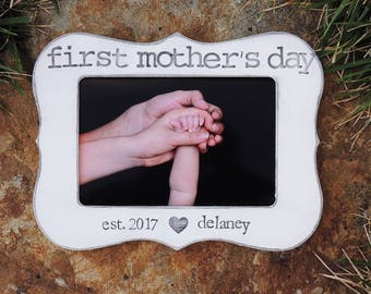 Custom First Mother's day frame Personalized Mother's day gift mom Happy Mothers day Picture frame gift for Mom grandma gifts for mama