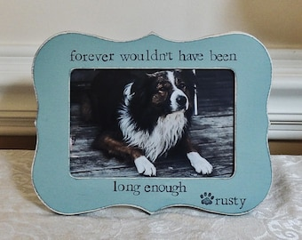 Sympathy Gift Pet Lover Gift Cat Dog Memorial Frame Personalized picture frame Pet Loss gift dog Sign