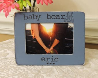 Ultrasound Baby bear picture frame Personalized Mothers day Father's day gift Dad Mom to be gift daddy Pregnancy Expecting dad mom gift
