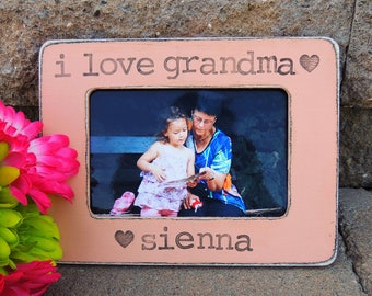 grandma picture frame Mothers day gift for Grandmother Personalized Custom gift from son daughter grandkids grandchild frame for mom