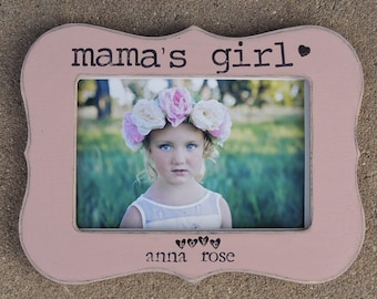 Mama's girl picture frame mothers day gift mom mama mommy dad Personalized Custom photo picture frame daughter mother bride wedding gift