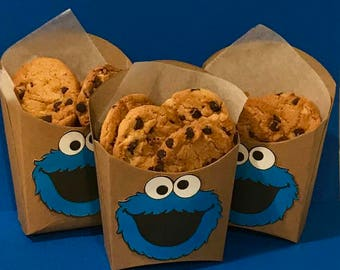 Cookie Monster party favor boxes 12pcs cookie monster birthday party cookie monster birthday cookie monster decoration monster invitation : cookie monster paper plates - pezcame.com