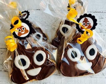 Poop Emoji Party Favor 12 Cookies Birthday Decorations Invitations Supplies Cupcakes Cake