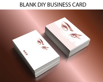 DIY lashes extension business card,makeup artist business card, DIY business card template, makeup branding, business cards downloads, bc003